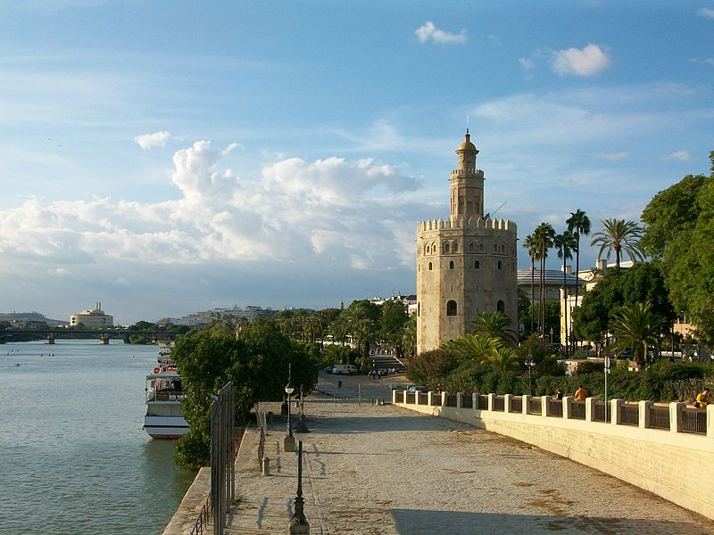 Torre del Oro (Tower of Gold) in Seville, Spain